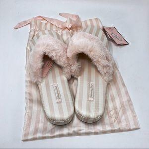 Victoria's Secret Pink Stripe Slippers